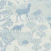 Forest animals lichtblauw