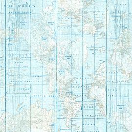 Worldmap blauw